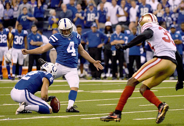 Vinatieri: Second place in all time scoring