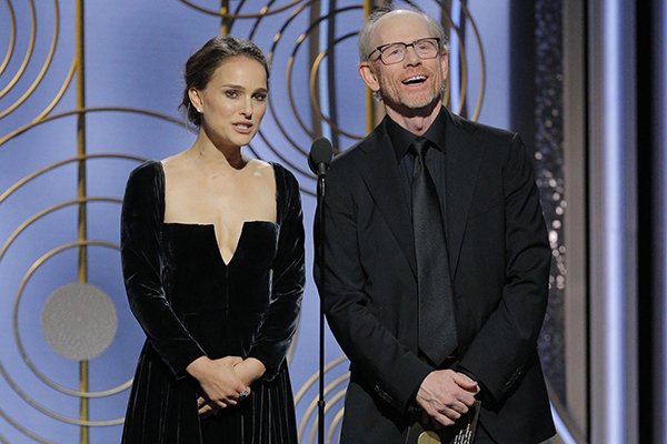 Natalie Portman makes a comment on the all-male list of nominees for best director.