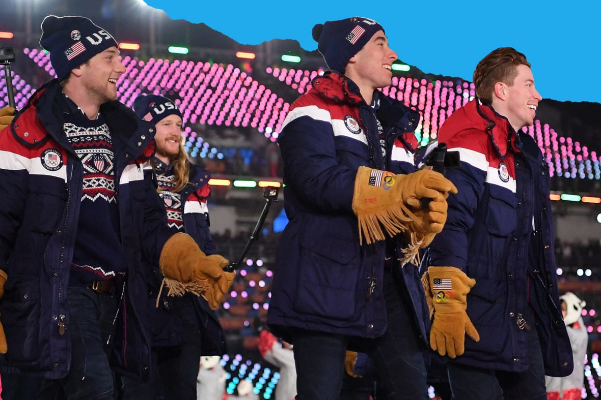 The U.S. Olympic team sported fringed gloves at this year's opening ceremony.