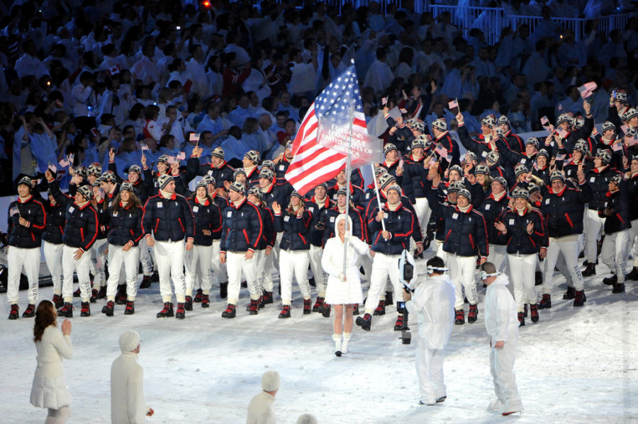 Team+USA+marches+in+the+parade+of+athletes+around+BC+Place+stadium+during+the+Opiening+Ceremony+of+the+XXI+Olympic+Winter+Games+on+Feb.+12+in+Vancouver%2C+British+Columbia%2C+Canada.+%0APhoto+by+Tim+Hipps%2C+FMWRC+Public+Affairs