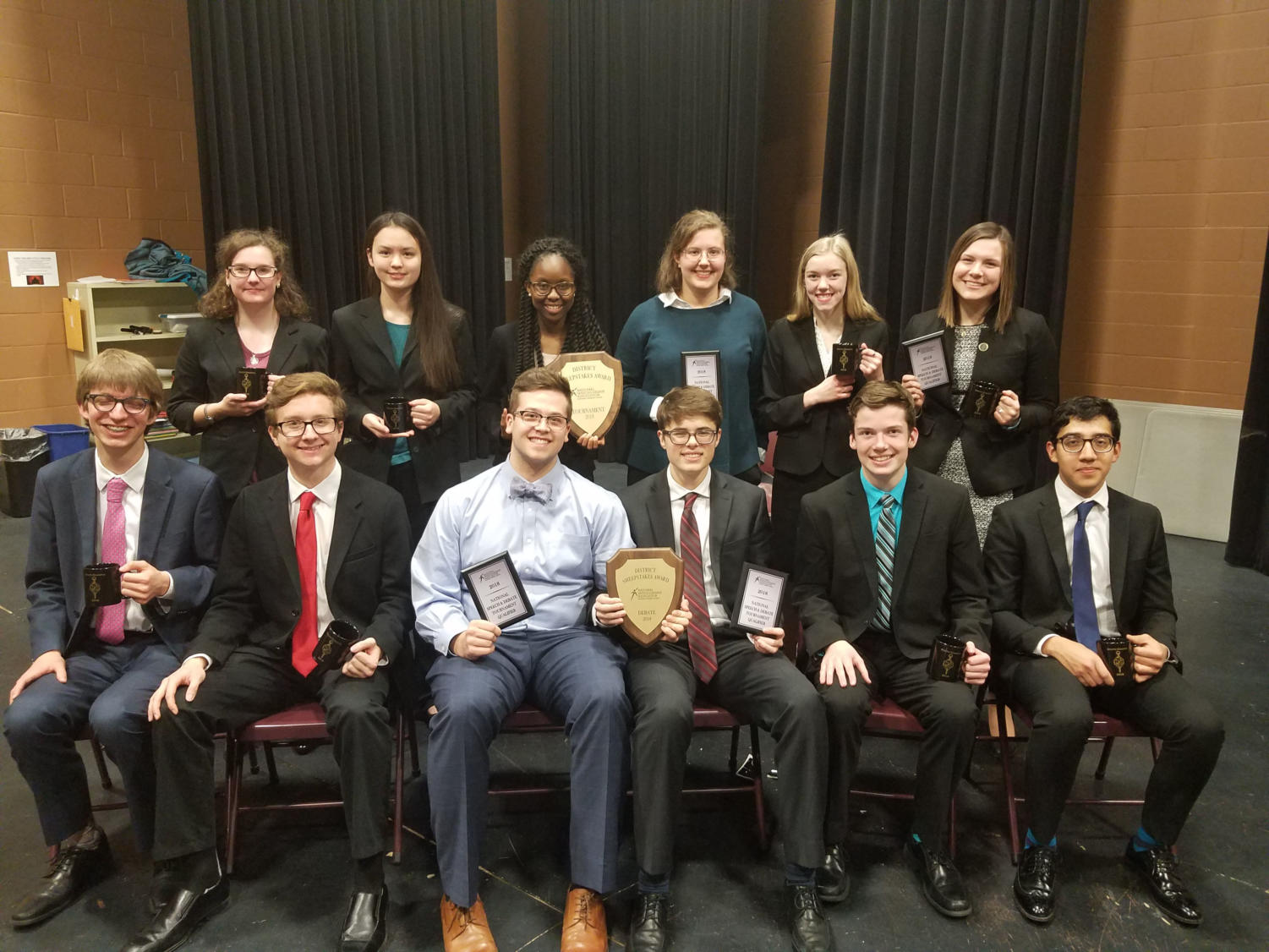The LHS Debate team at the District Tournament.