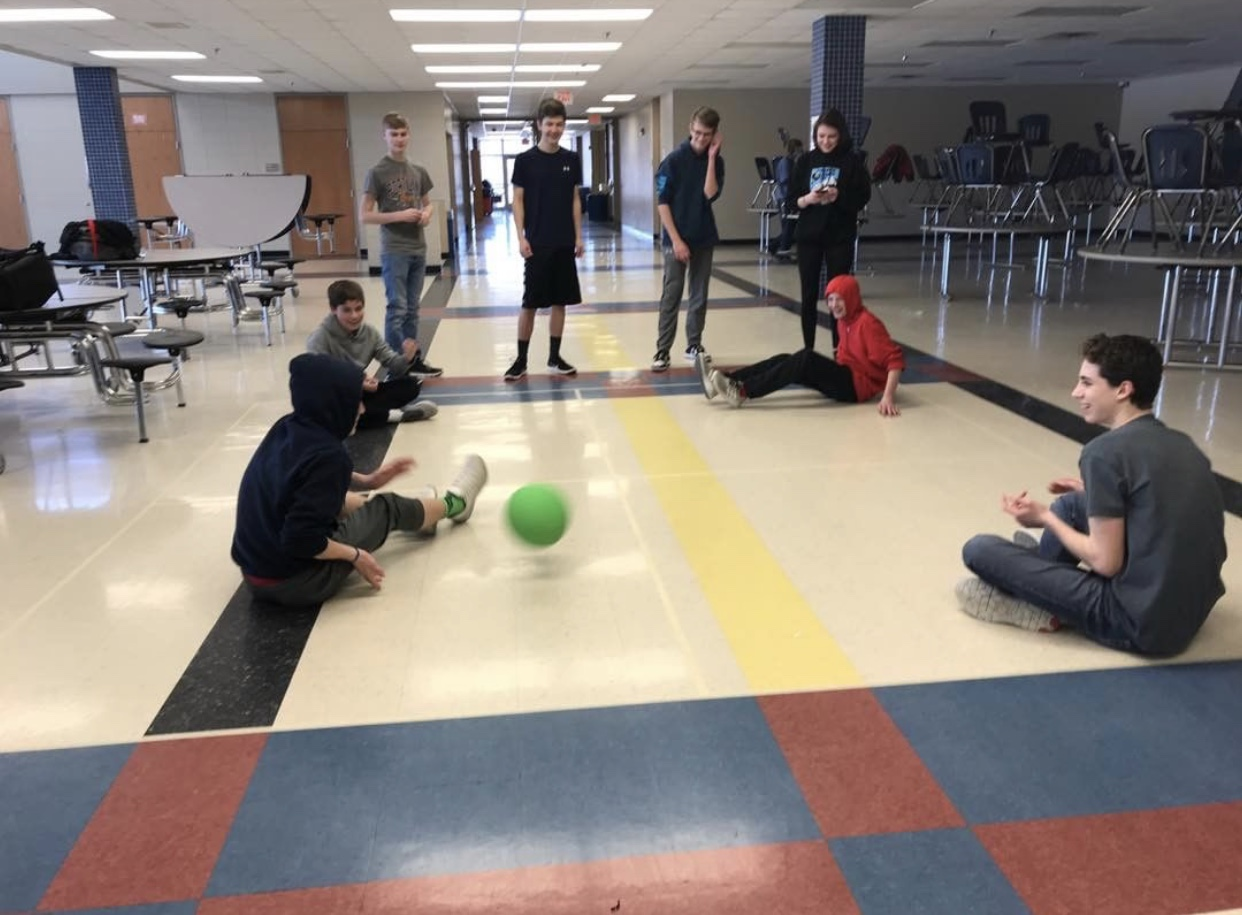 The 4-Square club is mostly made up of freshmen students, yet they accept all grades. They meet on Tuesdays after school in the cafeteria.