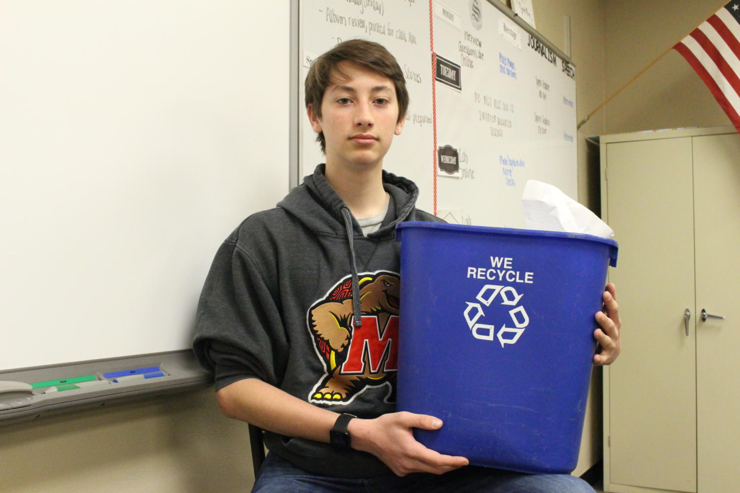 Cameron Rhode posing with one of the many vessels we use to save our planet.