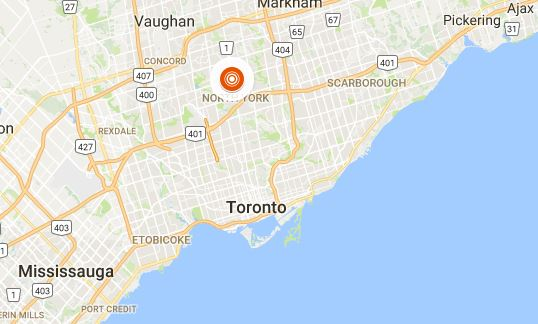 A Google Maps view of  where the Toronto van attack took place on Monday morning.