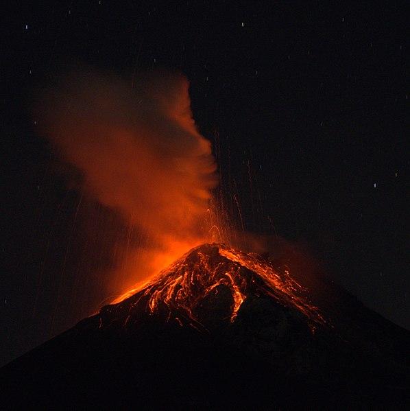 Volcan de Fuego's nightly activity