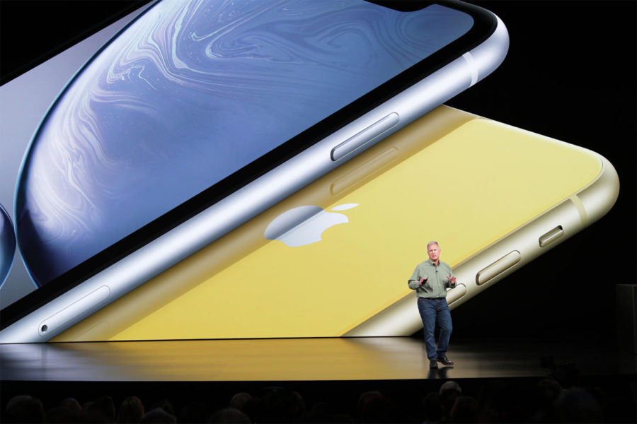Paul Schiller announces the iPhone XS at the Apple Keynote in September.