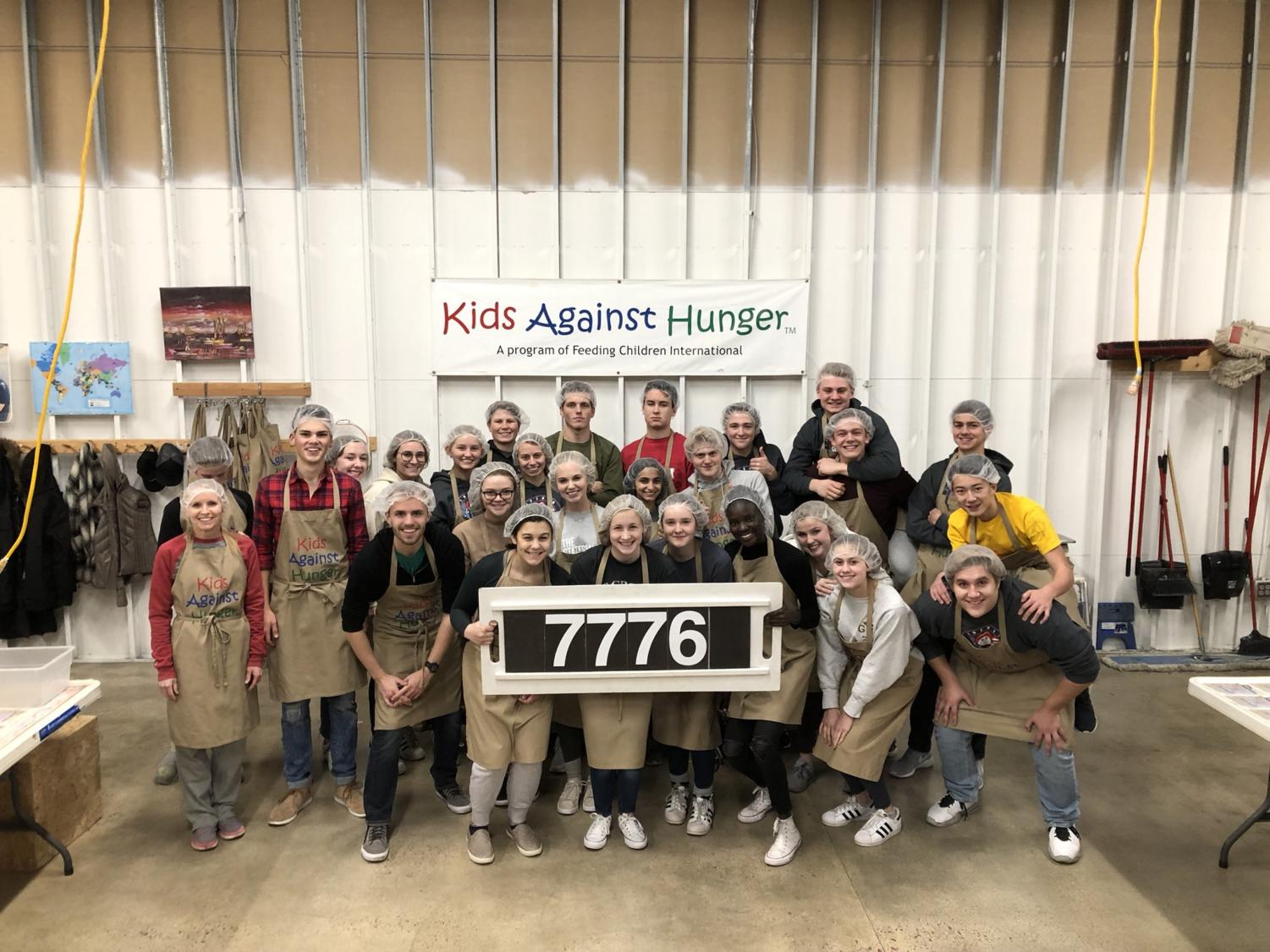 The LHS Student Council volunteered at Kids Against Hunger on Tuesday night