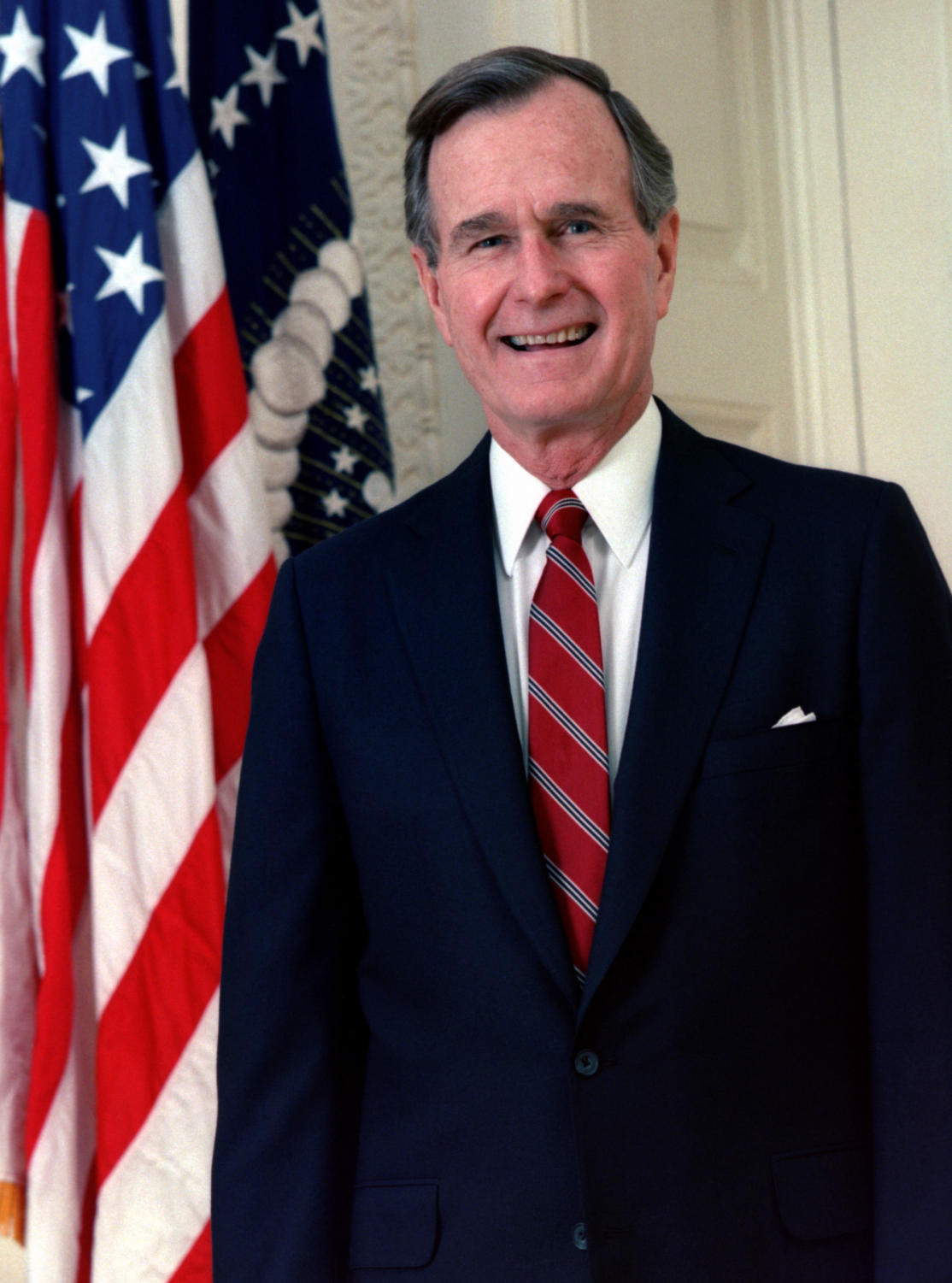 George H. W. Bush, President of the United States, 1989 official portrait.