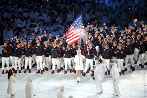 Team USA at the Opening Ceremony of the 2018 PyeongChang Winter Olympics