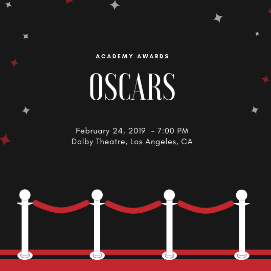 The Oscars will be held in the Dolby Theatre on Feb. 24, 2019.