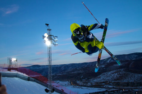 Athlete competing in a halfpipe event at the 2010 Aspen X Games