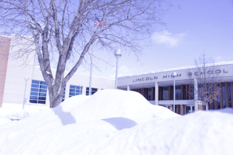 Snow piles up outside LHS, as it tends to do for nine months out of the year.