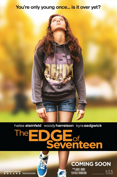 Hailey+Seinfeld+posing+for+the+%22Edge+of+17%22+movie+poster.+