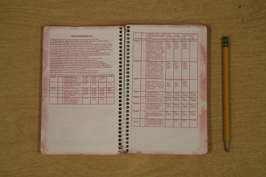 LHS students can use their student planner to look up disciplinary rules and the different levels of punishment.