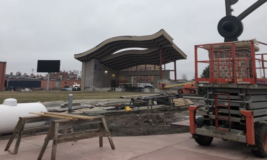 The construction of the Levitt shell is well underway and expected to be completed in time for summer concerts this year.