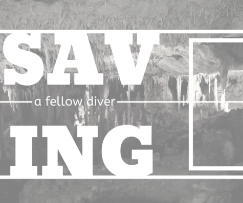 Saving a fellow diver