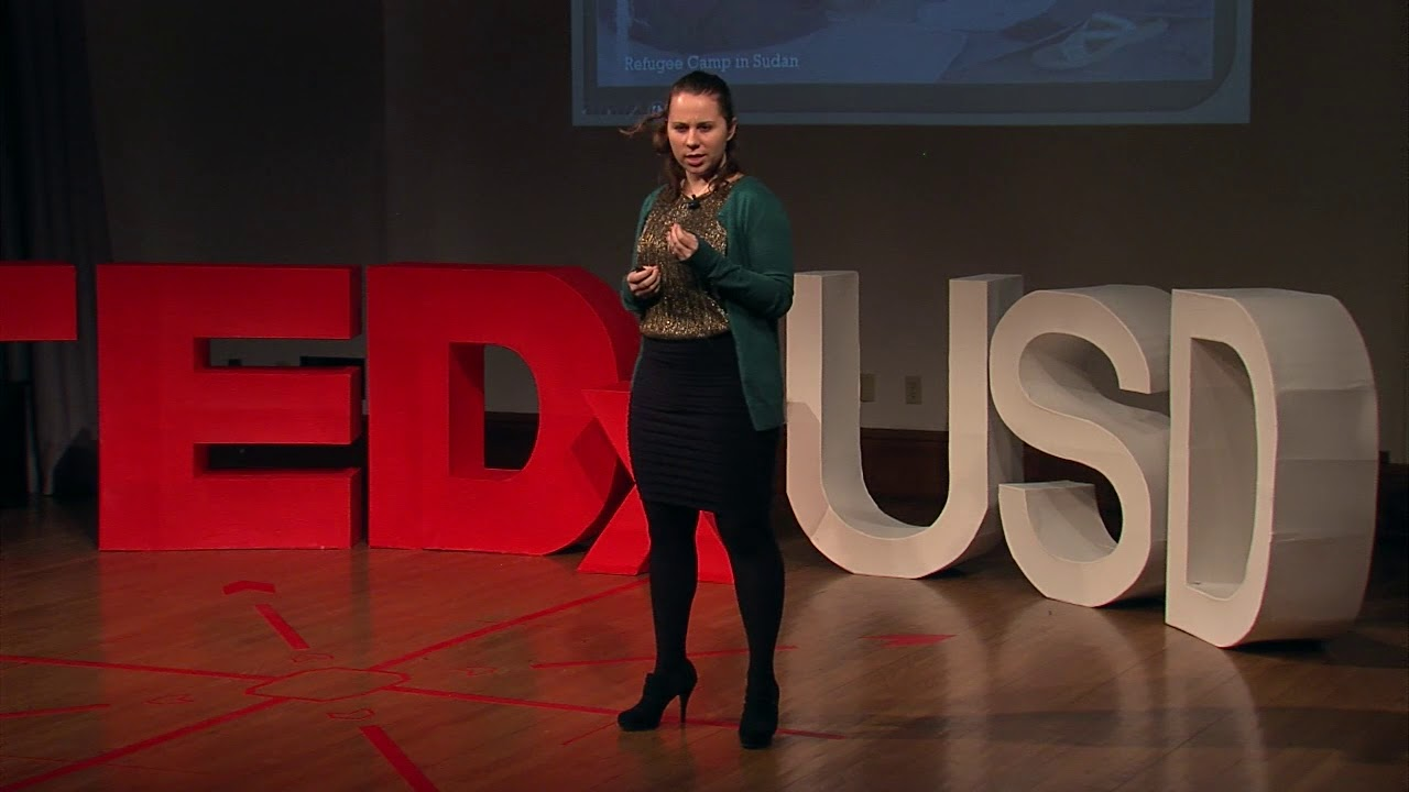 Kristyne Duffy speaks at TEDxUSD last year in Vermilion, SD