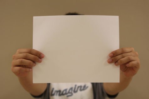 A blank sheet of paper