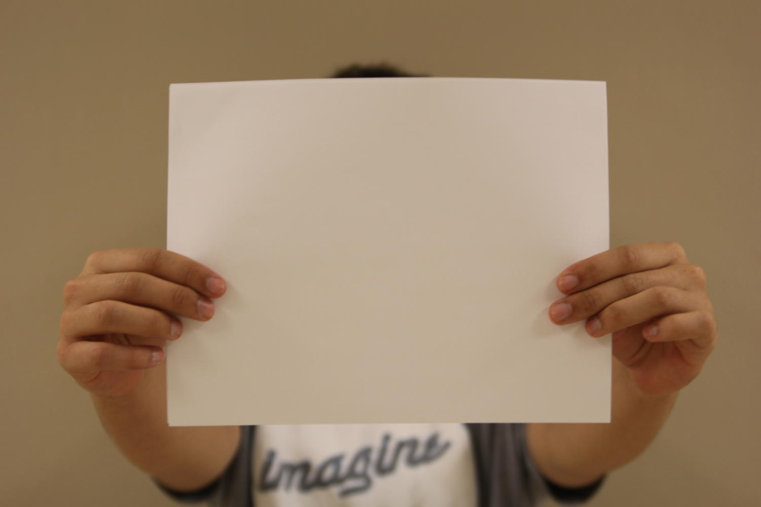 This piece of paper is a masterpiece. You just need to look at it from a different perspective.