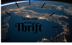 Save the world. Thrift.