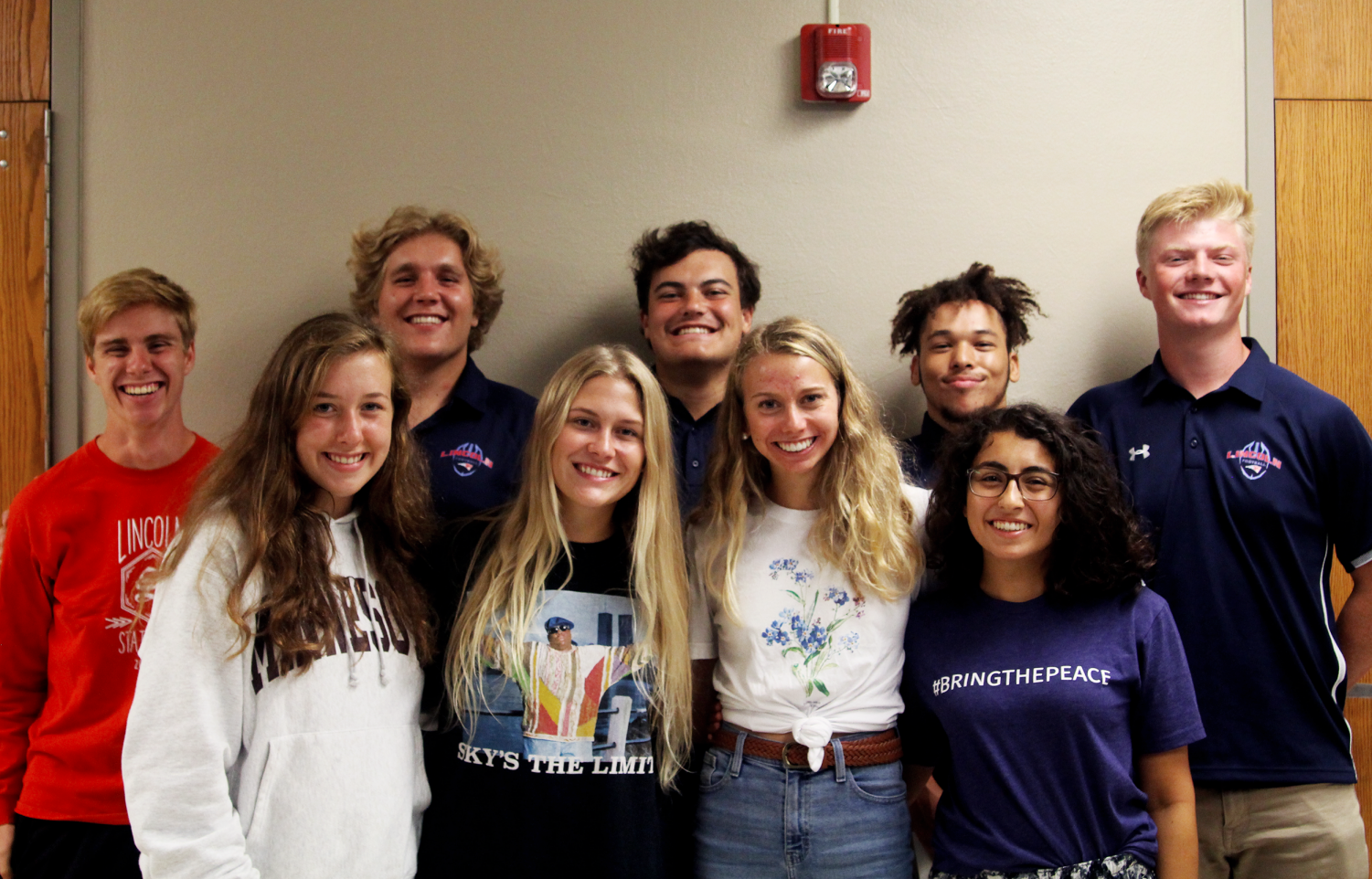 Royalty candidates for LHS include: Back left to right: Slater Dixon, Johnathan Smith, Alex Oppold, Jake Randle and Mitch Eichacker Front left to right: Lauren Teller, Emily Hall, Caroline Sudbeck and Hanna Beshai. Not Pictured: Taylor Ericson