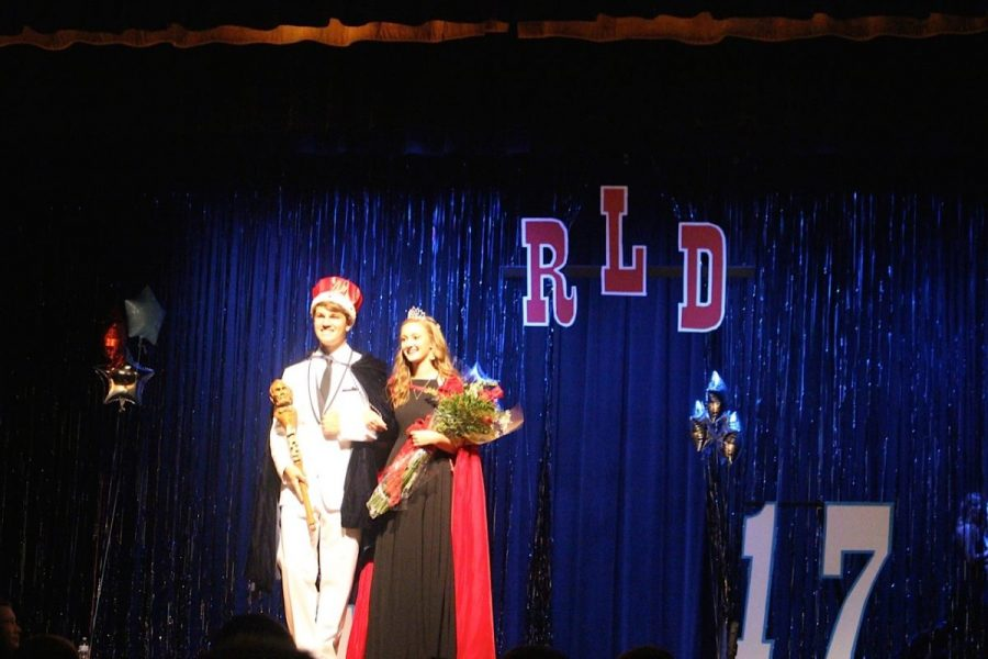Tim+White+and+Anna+Robinson+won+LHS%27+Homecoming+king+and+queen+in+2017.