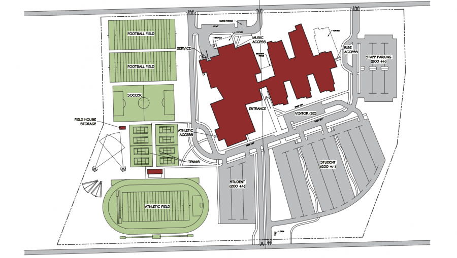 The+basic+floor+plan+for+Jefferson+High+School%2C+including+Fine+Arts+and+Athletic+Departments.