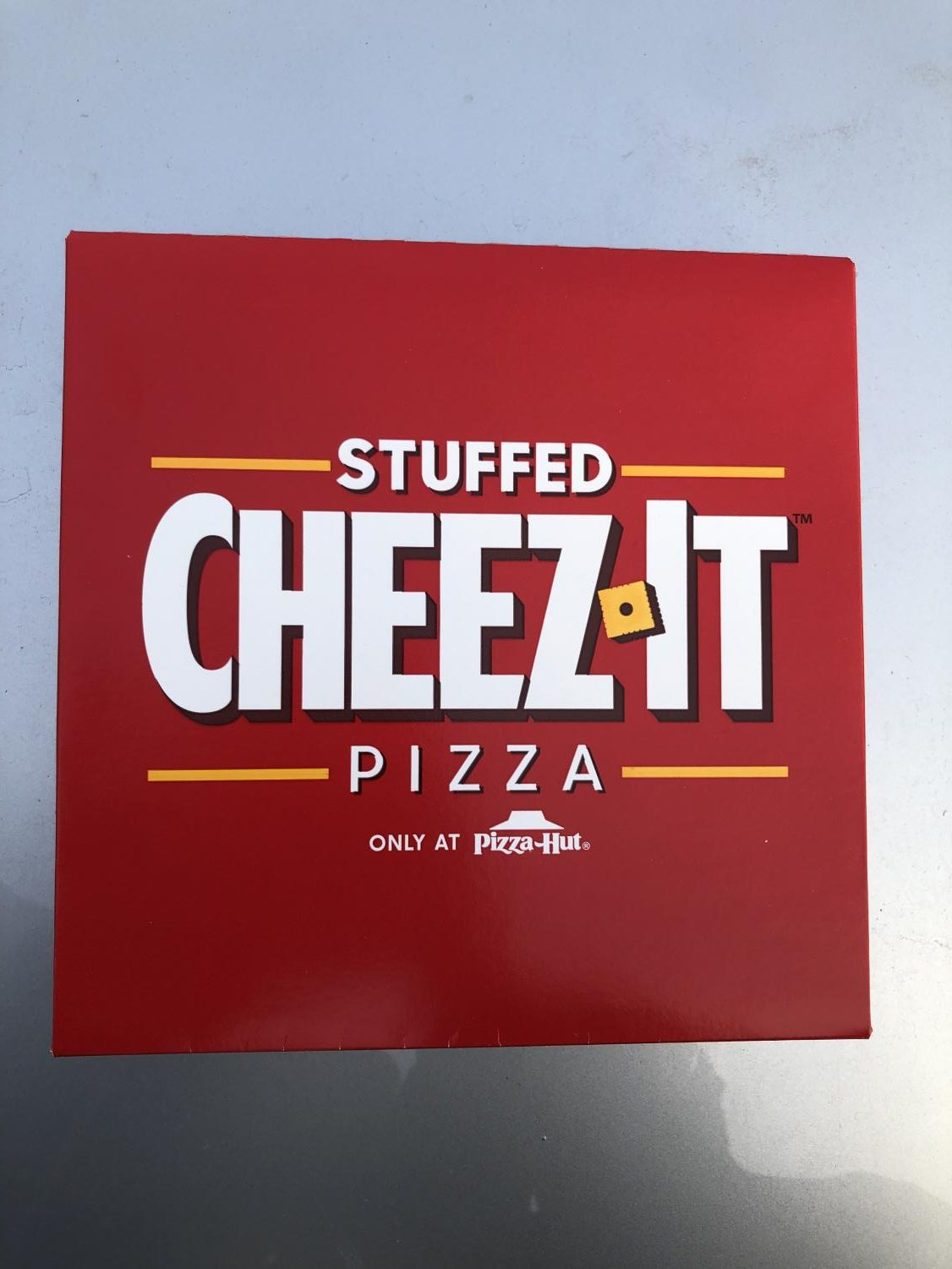 The Cheez-It Pizza comes in either pepperoni or cheese with a side of marinara sauce.