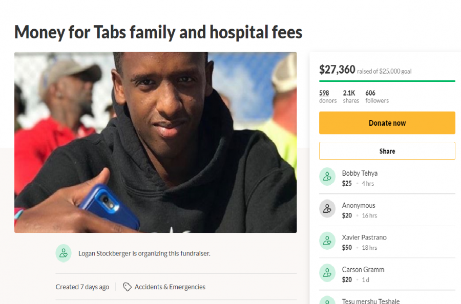 LHS community's page for donations toward the recovery of Mhiretab (Tab) Tsegaye.