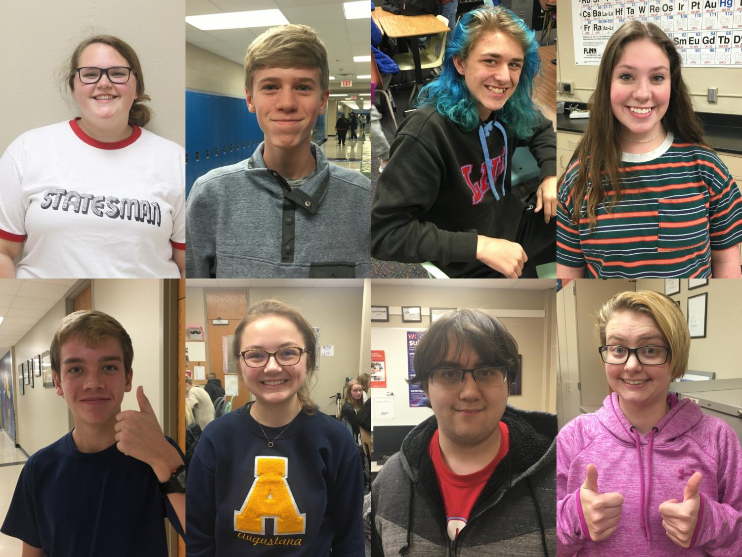 The LHS Nov. 2019 Students of the Month pose for pictures.