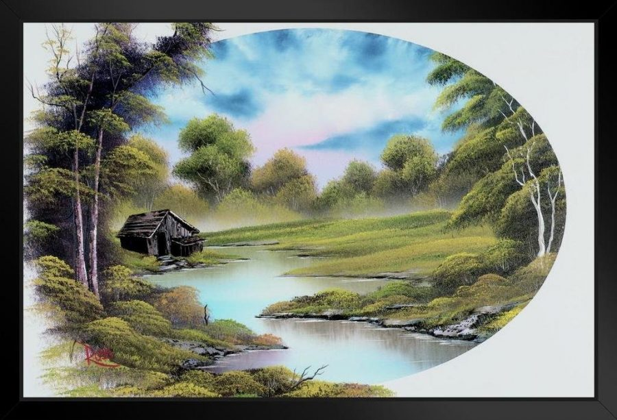 Original painting by Bob Ross, provided by Two Inch Brush.