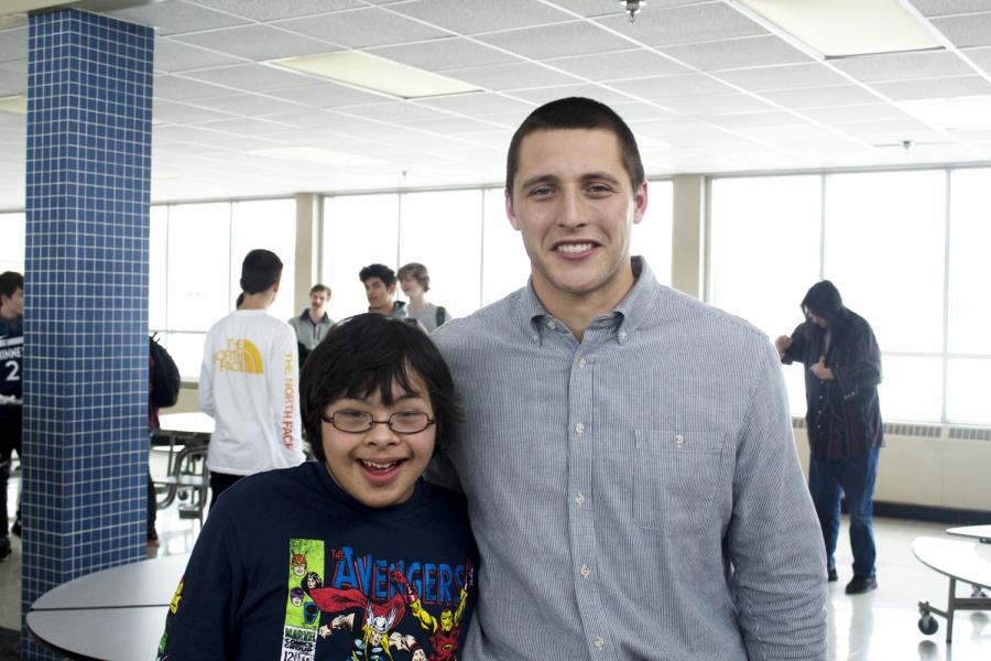 Zach Zenner poses with Dax Huezovargas Jr.