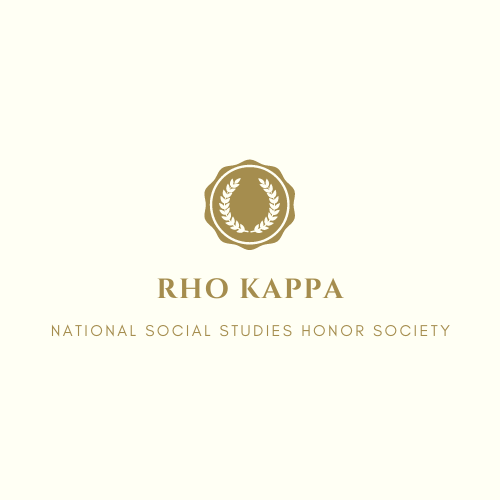 Rho Kappa National Social Studies Honor Society seeks to recognize and promote excellence in history and social studies.
