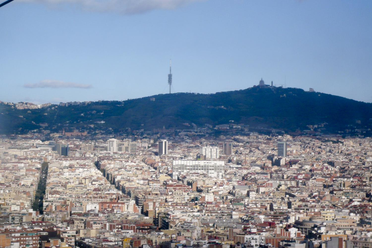 Over head view of Barcelona, Spain.