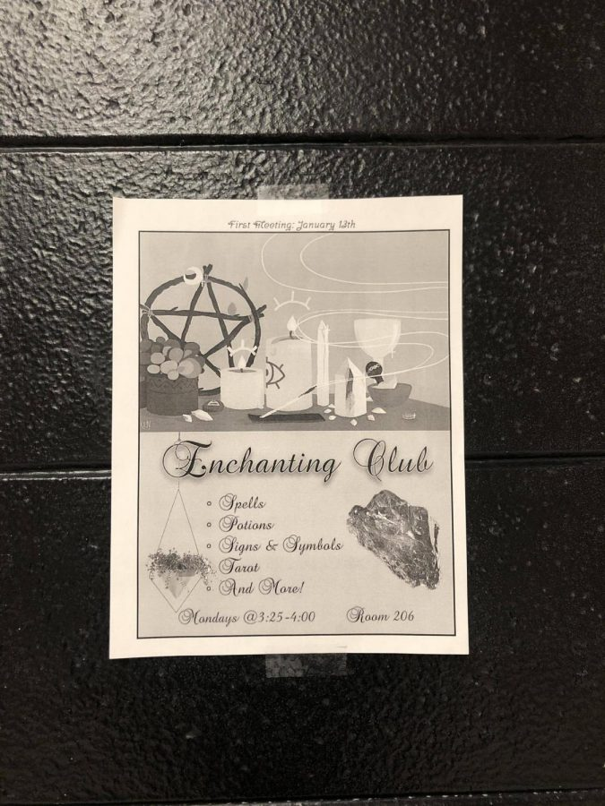 Enchanting Club's first meeting was on Monday, Jan. 13. Since then, they have met in Kyle Dietz' room every Monday after school.