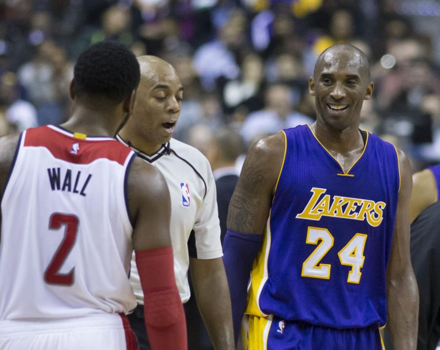 From 1996-2006 Kobe Bryant wore two number 8 and from 2007-2017 Bryant wore number 24.