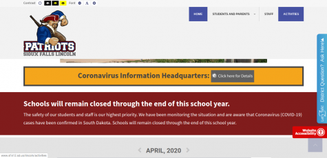 On April 6, Governor Kristi Noem announced that all Sioux Falls public schools will remain closed for the rest of the year due to Covid-19.