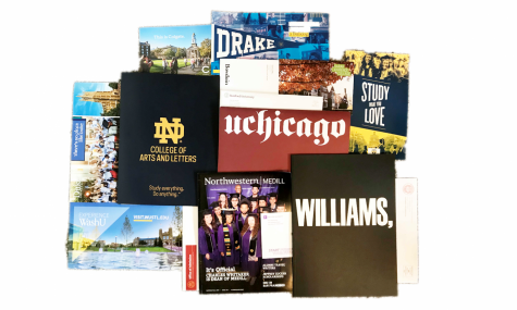 Colleges are sending out waves of informational post cards and letters to college-bound students with hopes of recruiting them.