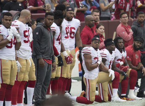 The NFL began its controversial history surrounding the anthem when San Francisco 49ers players began kneeling for the anthem in 2016.