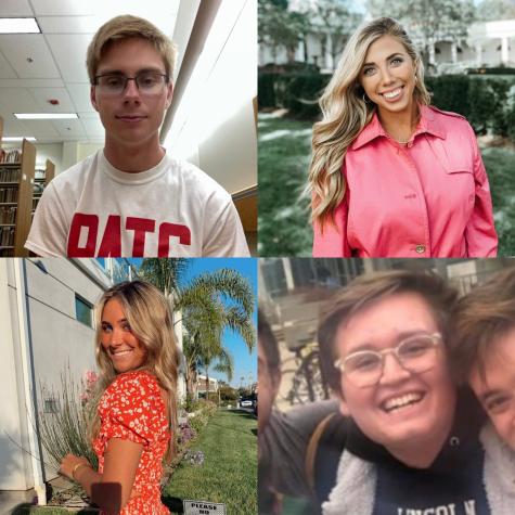 LHS Statesman alumni Slater Dixon, Ellie Brecht, Chloe Crissman and Gage Gramlick.