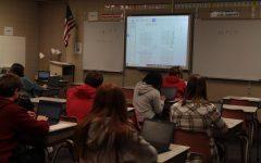 LHS freshmen are hard at work in Mr. Stacy's Algebra I class.