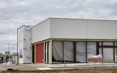 Chipotle Mexican Grill  under construction along West 41st Street in front of The Empire Mall.