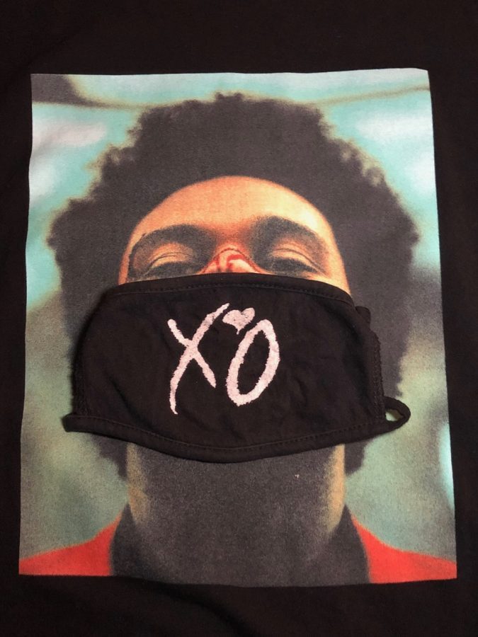 The+Weeknd+has+sold+masks+with+his+record+label+on+them+to+keep+his+fans+safe+during+the+pandemic.