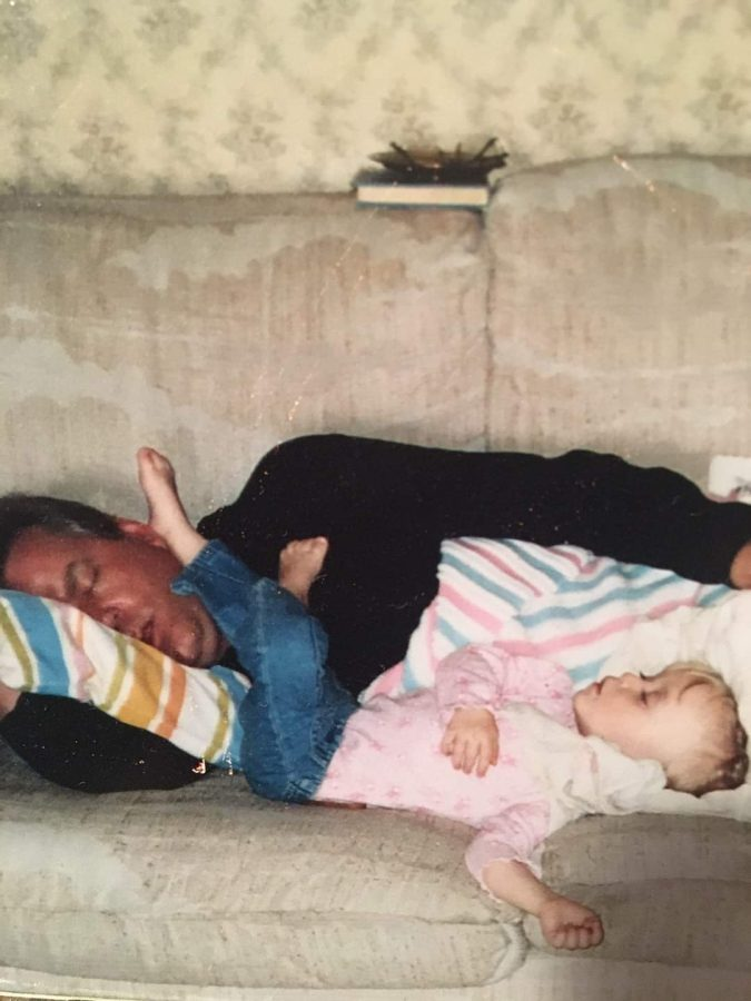 Daniel and Veronica Iseminger taking a nap together sometime between 05' and 07'