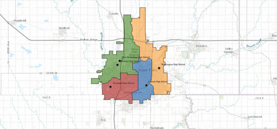 The+final+Sioux+Falls+School+District+high+school+boundaries+decided+on+by+the+Boundary+Task+Force.+