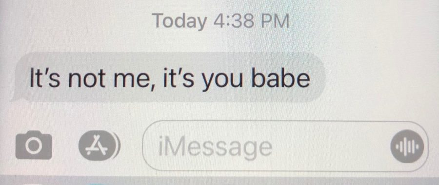 It's common to receive texts like these, unfortunately often right before Valentine's Day.