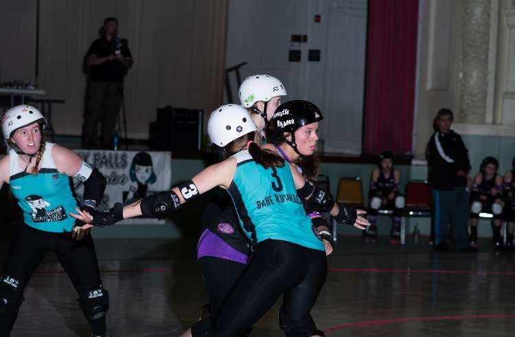Sioux Falls Junior Roller Derby promotes a close knit team aspect and inclusion for all.