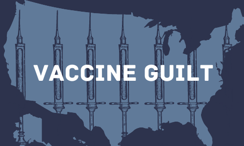 """Vaccine guilt"" is the phenomenon where individuals begin  feeling guilty or undeserving after being immunized against COVID-19"
