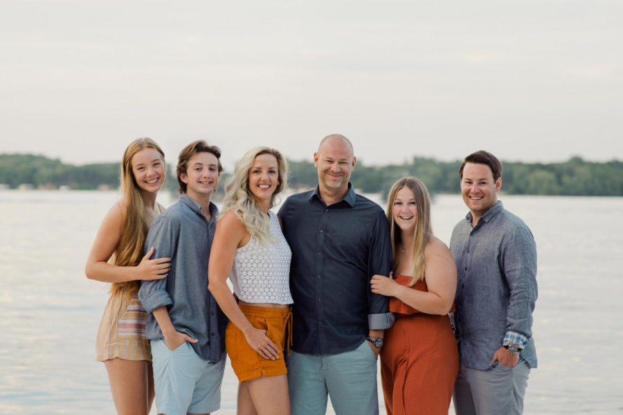 The Randall family on Lake Okoboji.