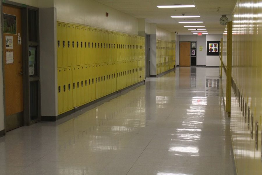 Hallways are often very empty on senior skip day with nearly one fourth of the school absent.